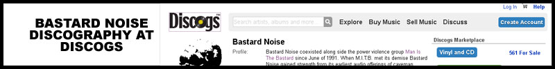 Bastard Noise Discography at Discogs